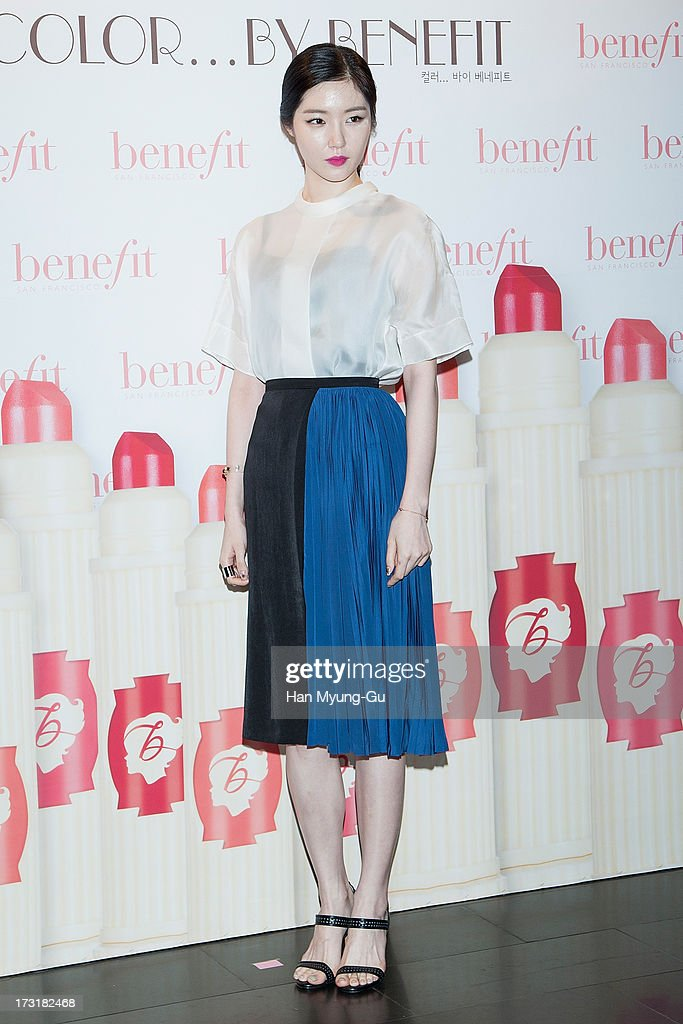 South Korean actress Kim Sae-Rom attends the Benefit 'Hydra-Smooth Lip Color' launching party at JNB Gallery on July 9, 2013 in Seoul, South Korea.