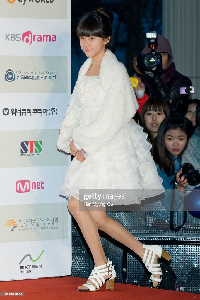 South Korean actress Kim Sae-Ron attends during the 2nd Gaon Chart K-POP Awards at Olympic Hall on February 13, 2013 in Seoul, South Korea.