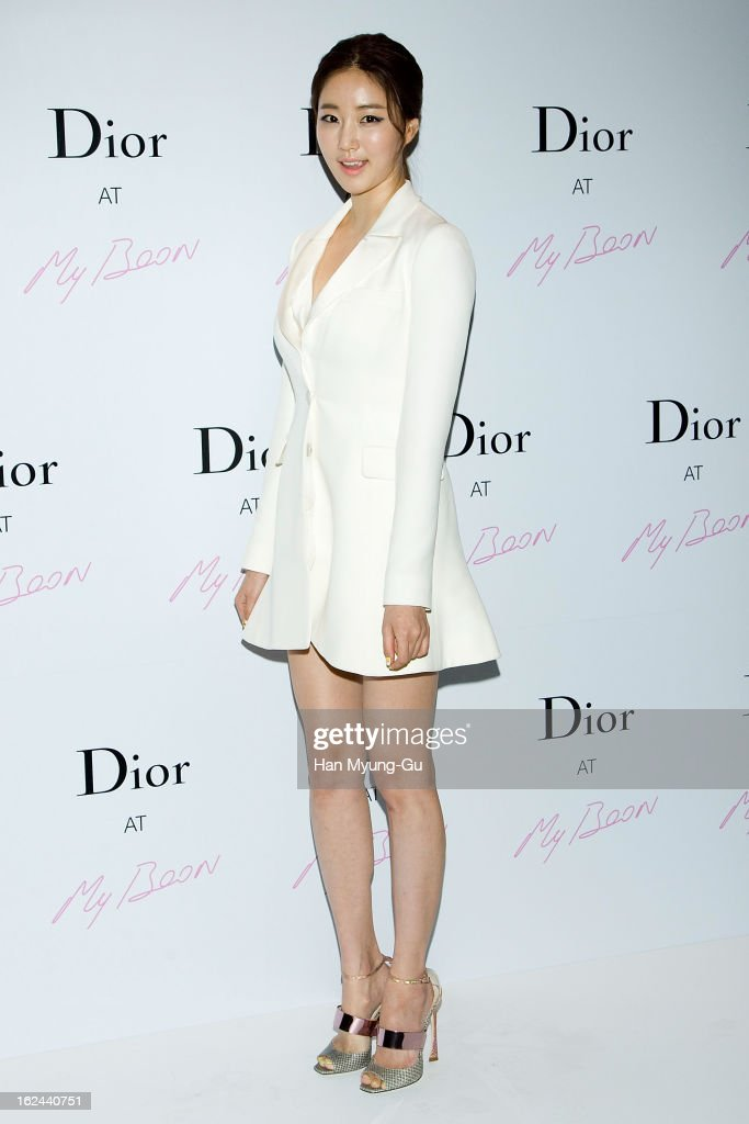 South Korean actress Kim SaRang attends a promotional event for the 'Christian Dior' Pop Up Store Opening at My Boon on February 22 2013 in Seoul...
