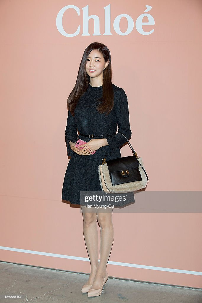 South Korean actress Kim Sa-Rang attends Chloe's perfume 'ROSES DE CHLOE EDT' launch party at Space Gallery on October 30, 2013 in Seoul, South Korea.