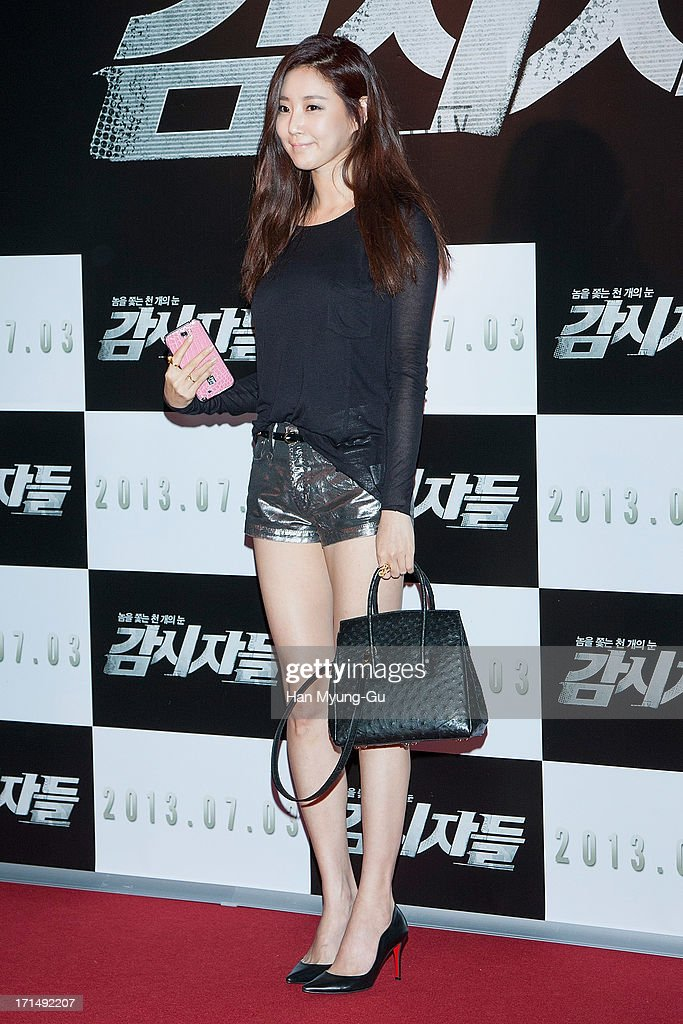 South Korean actress Kim Sa-Rang attends during the 'Cold Eyes' VIP screening at Coex Mega Box on June 25, 2013 in Seoul, South Korea. The film will open on July 03 in South Korea.