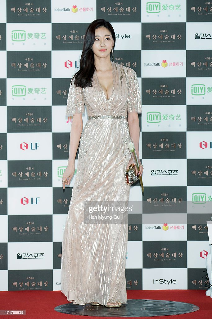 South Korean actress Kim SaRang attends the 51th Baeksang Arts Awards on May 26 2015 in Seoul South Korea