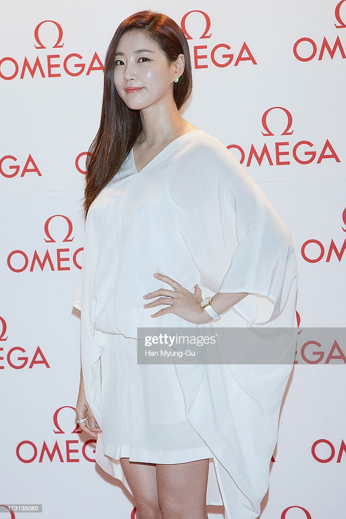 South Korean actress <a gi-track='captionPersonalityLinkClicked' href=/galleries/search?phrase=Kim+Sa-Rang&family=editorial&specificpeople=4457239 ng-click='$event.stopPropagation()'>Kim Sa-Rang</a> attends the 'OMEGA' Co-Axial Movement Exhibition at Beyond Museum on July 8, 2013 in Seoul, South Korea.