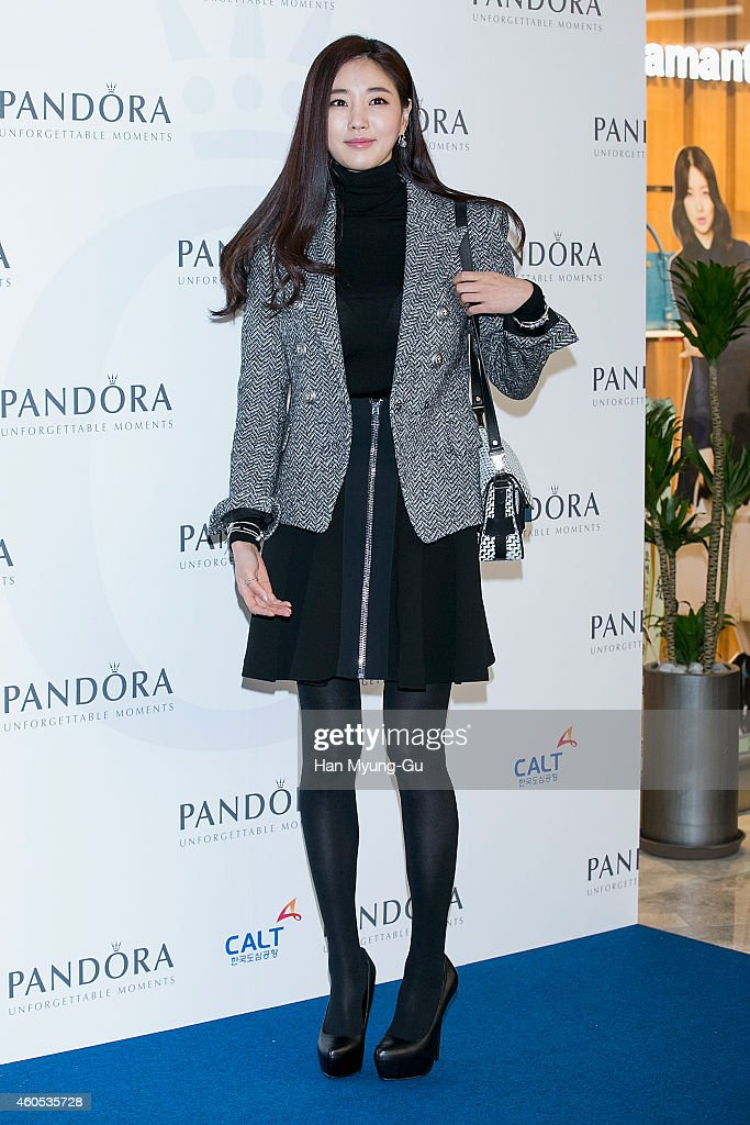 South Korean actress Kim SaRang attends the 'PANDORA' COEX Concept Store opening event at COEX Mall on December 12 2014 in Seoul South Korea