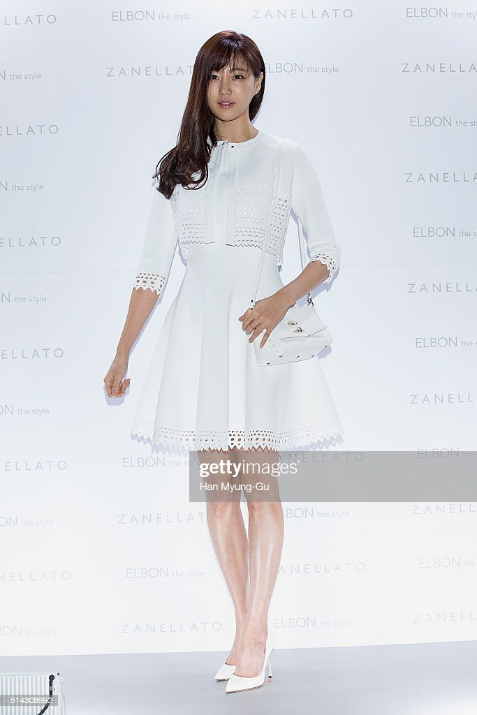 South Korean actress Kim SaRang attends the photocall for 'ZANELLATO Pura X Yoo Hyun ECA Project' at ELBON the style on March 8 2016 in Seoul South...