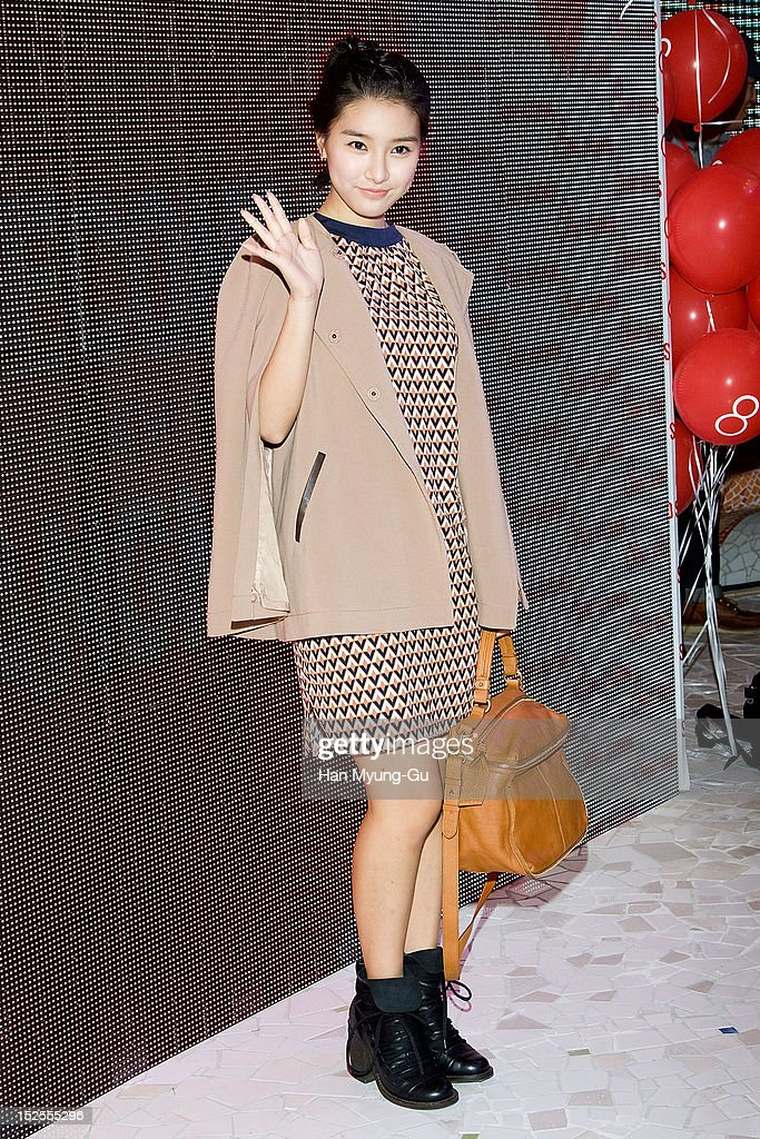South Korean actress <a gi-track='captionPersonalityLinkClicked' href=/galleries/search?phrase=Kim+So-Eun&family=editorial&specificpeople=6670654 ng-click='$event.stopPropagation()'>Kim So-Eun</a> attends the '8ight Seconds' Store Opening at Gangnam 8ight Seconds store on September 21, 2012 in Seoul, South Korea.