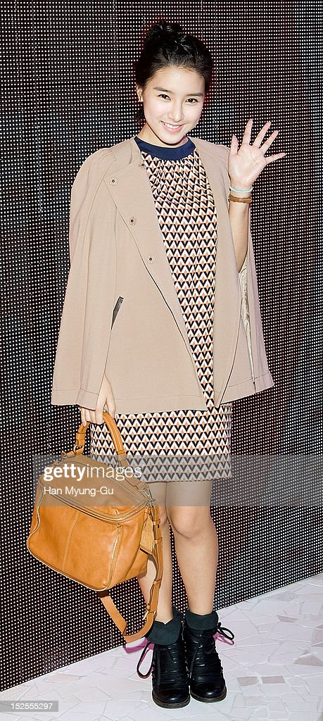 South Korean actress Kim So-Eun attends the '8ight Seconds' Store Opening at Gangnam 8ight Seconds store on September 21, 2012 in Seoul, South Korea.