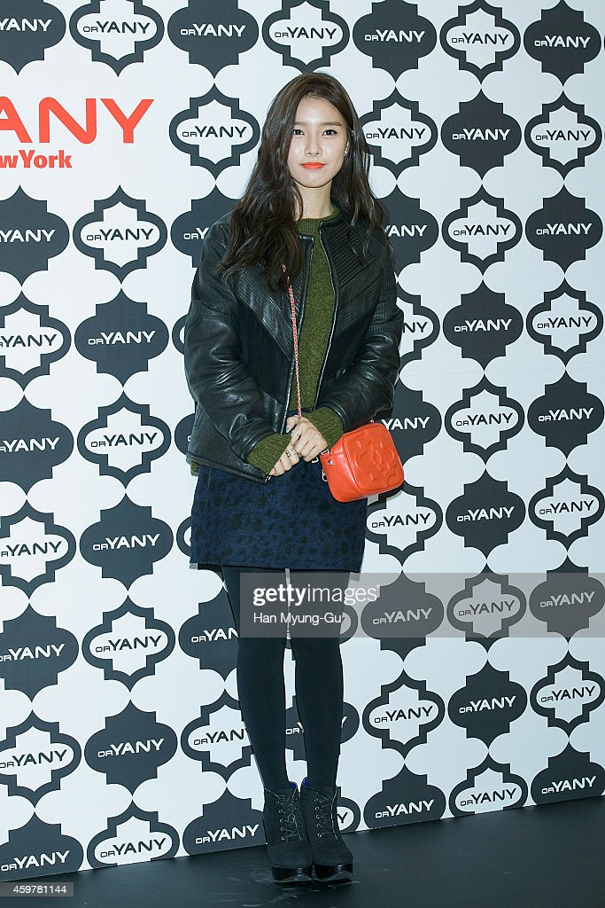 South Korean actress <a gi-track='captionPersonalityLinkClicked' href=/galleries/search?phrase=Kim+So-Eun&family=editorial&specificpeople=6670654 ng-click='$event.stopPropagation()'>Kim So-Eun</a> attends the flagship store opening of 'orYANY' at COEX Mall on December 1, 2014 in Seoul, South Korea.