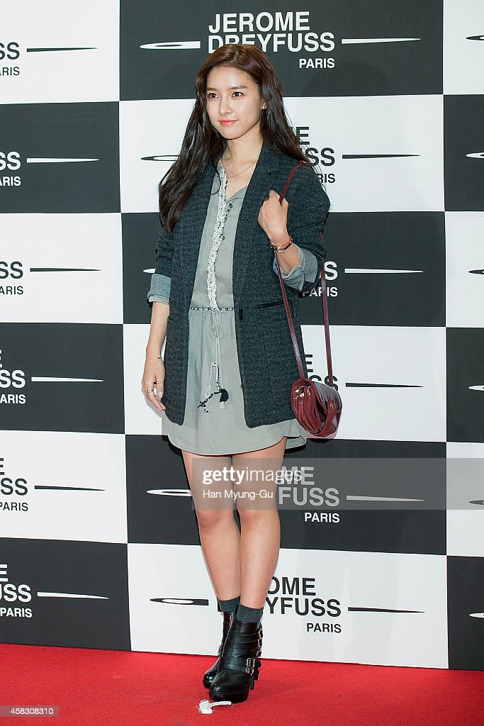 South Korean actress <a gi-track='captionPersonalityLinkClicked' href=/galleries/search?phrase=Kim+So-Eun&family=editorial&specificpeople=6670654 ng-click='$event.stopPropagation()'>Kim So-Eun</a> attends the 'Jerome Dreyfuss' Flagship Store Opening on October 31, 2014 in Seoul, South Korea.