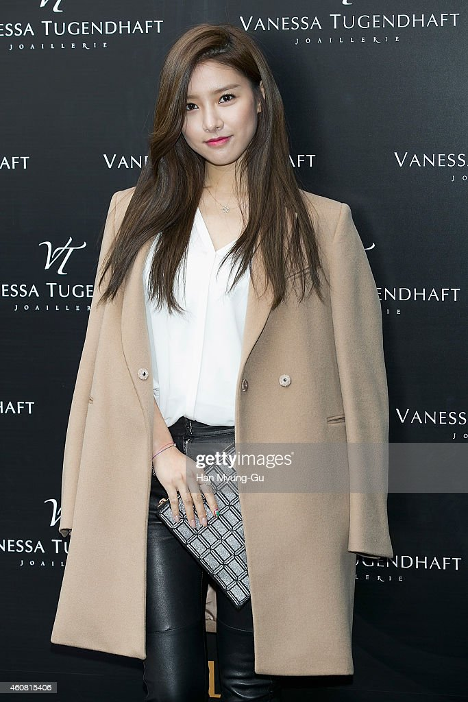 South Korean actress <a gi-track='captionPersonalityLinkClicked' href=/galleries/search?phrase=Kim+So-Eun&family=editorial&specificpeople=6670654 ng-click='$event.stopPropagation()'>Kim So-Eun</a> attends the launch event for 'Vanessa Tugendhaft' Korea Launch showcase on December 23, 2014 in Seoul, South Korea.