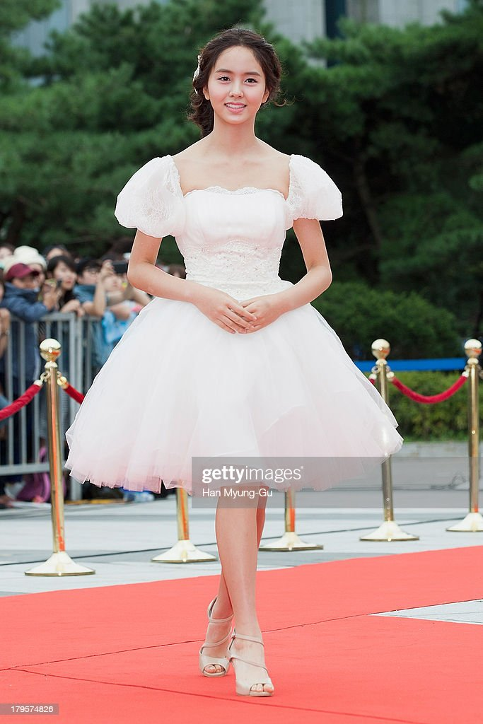 South Korean actress Kim So-Hyun arrives for photographs at the Seoul International Drama Awards 2013 at National Theater on September 5, 2013 in Seoul, South Korea.