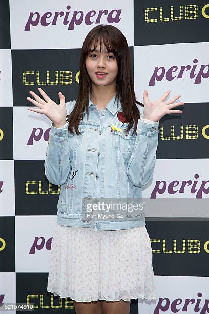 South Korean actress Kim SoHyun attends the autograph session for 'PeriPera' on April 16 2016 in Seoul South Korea