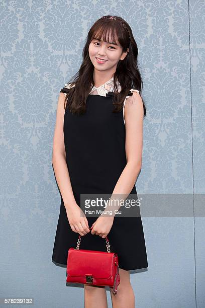 South Korean actress Kim SoHyun attends the opening event for the Miu Miu Cheongdam Boutique on July 20 2016 in Seoul South Korea