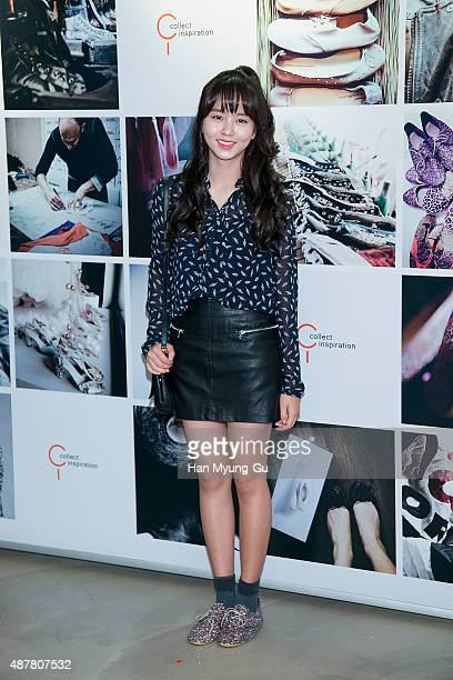 South Korean actress Kim SoHyun attends the photocall for CI launch on September 11 2015 in Seoul South Korea