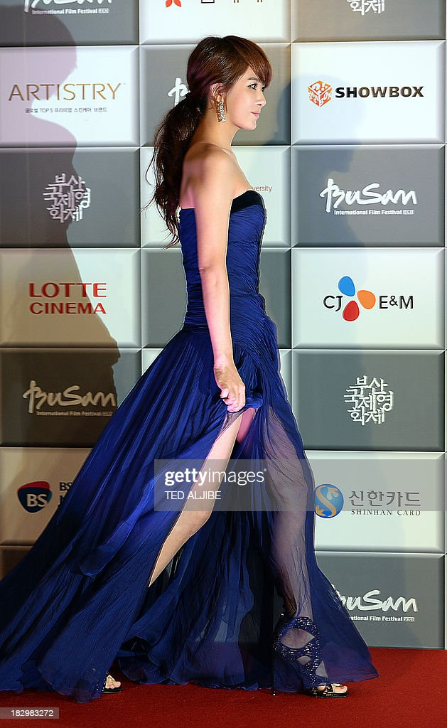 South Korean actress Kim Sun A arrives for the opening ceremony of the 18th Busan International Film Festival (BIFF) in Busan on October 3, 2013. Stars of Asian cinema gathered in the South Korean port city of Busan October 3, for the opening of the region's biggest film festival, showcasing new talent in a region where box office takings will soon outstrip North America.