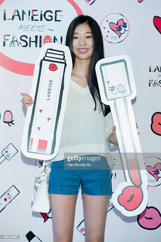 South Korean actress <a gi-track='captionPersonalityLinkClicked' href=/galleries/search?phrase=Kim+Sun-A&family=editorial&specificpeople=4360741 ng-click='$event.stopPropagation()'>Kim Sun-A</a> (<a gi-track='captionPersonalityLinkClicked' href=/galleries/search?phrase=Kim+Sun-A&family=editorial&specificpeople=4360741 ng-click='$event.stopPropagation()'>Kim Sun-A</a>h) attends the photocall for LANEIGE X PlayNoMore Collaboration on July 28, 2015 in Seoul, South Korea.