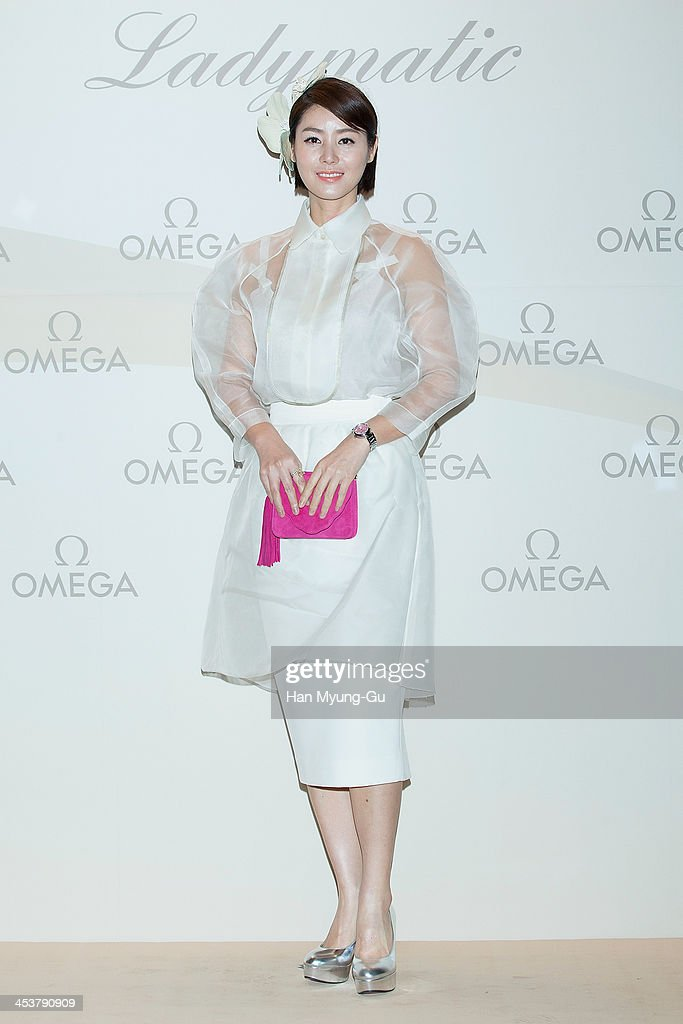 South Korean actress Kim SungRyung attends Omega 'Ladymatic' Launch Party at Shilla Hotel on December 5 2013 in Seoul South Korea