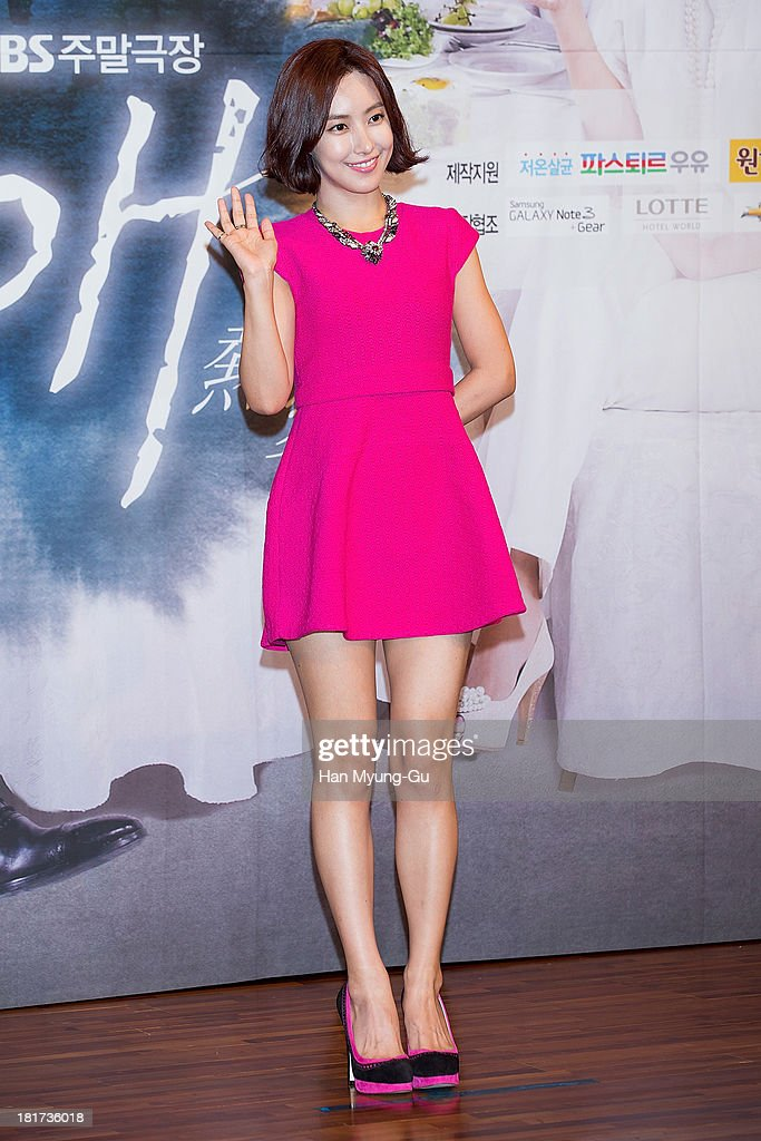 South Korean actress Kim Yun-Seo attends SBS Drama 'Hot Love' press conference at 63 building on September 23, 2013 in Seoul, South Korea. The drama will open on September 28, in South Korea.