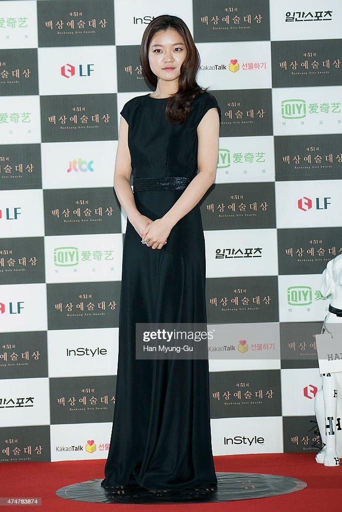 South Korean actress Ko Ah-Sung aka Ko A-Sung attends the 51th Baeksang Arts Awards on May 26, 2015 in Seoul, South Korea.