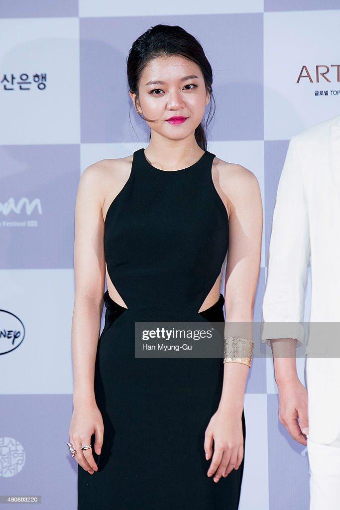 South Korean actress Ko Ah-Sung aka Ko A-Sung attends the opening ceremony of the 20th Busan International Film Festival (BIFF) on October 1, 2015 in Busan, South Korea. The biggest film festival in Asia showcases 304 films from 75 countries and runs from October 1-10.