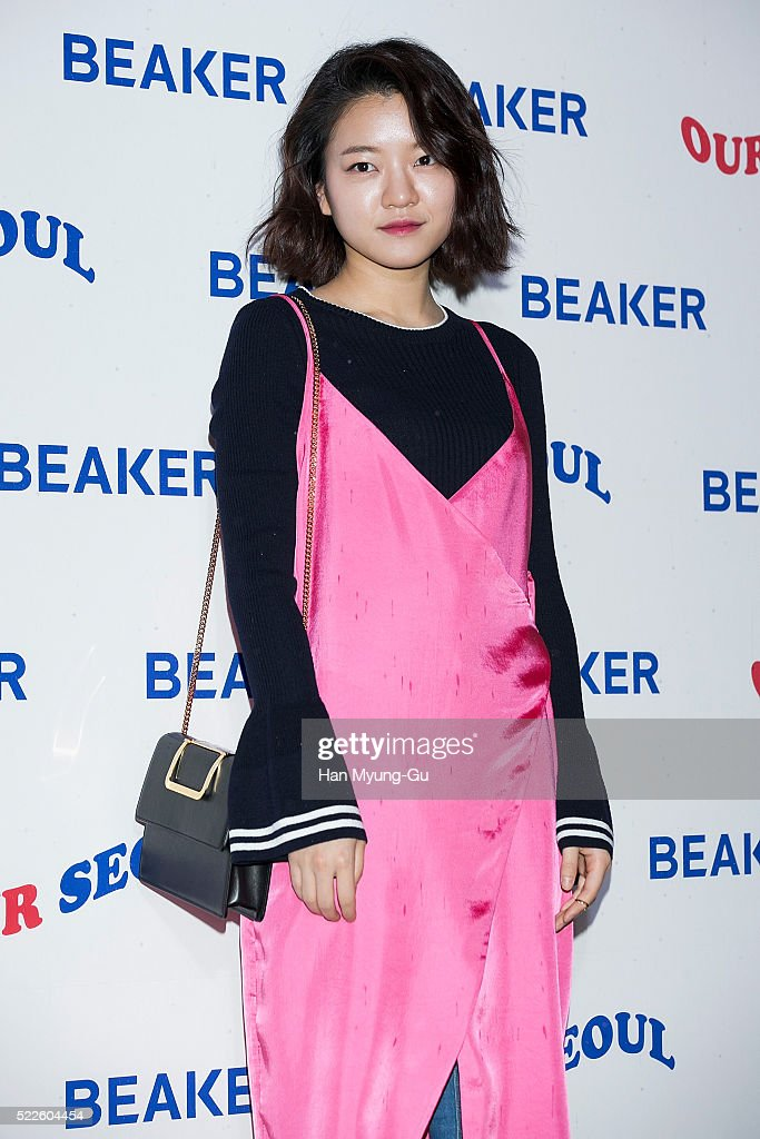 South Korean actress Ko Ah-Sung aka Ko A-Sung attends the photocall for the opening event of 'BEAKER' Hannam Flagship Store on April 20, 2016 in Seoul, South Korea.
