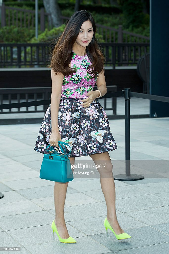 South Korean actress <a gi-track='captionPersonalityLinkClicked' href=/galleries/search?phrase=Ko+So-Young&family=editorial&specificpeople=8599505 ng-click='$event.stopPropagation()'>Ko So-Young</a> (Go So-Young) attends Kyungdong 'Star Jade' Opening Party on June 27, 2014 in Busan, South Korea.