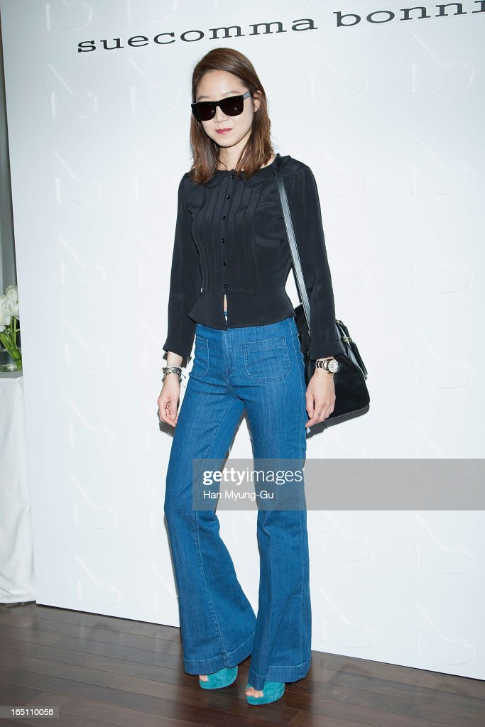 South Korean actress Kong Hyo-Jin (Gong Hyo-Jin) attends the 'Suecomma Bonnie' 10th Anniversary Exhibition at Conrad Hotel on March 29, 2013 in Seoul, South Korea.