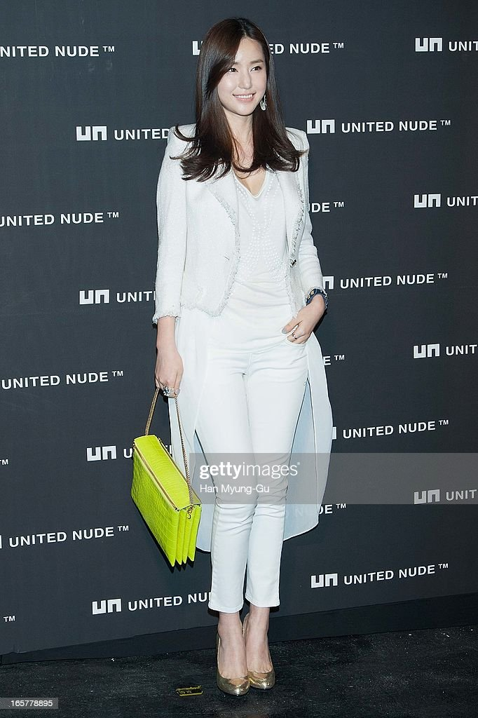 South Korean actress Kong Hyun-Joo poses for media the 'United Nude' flagship store opening at United Nude Gangnam Store on April 5, 2013 in Seoul, South Korea.