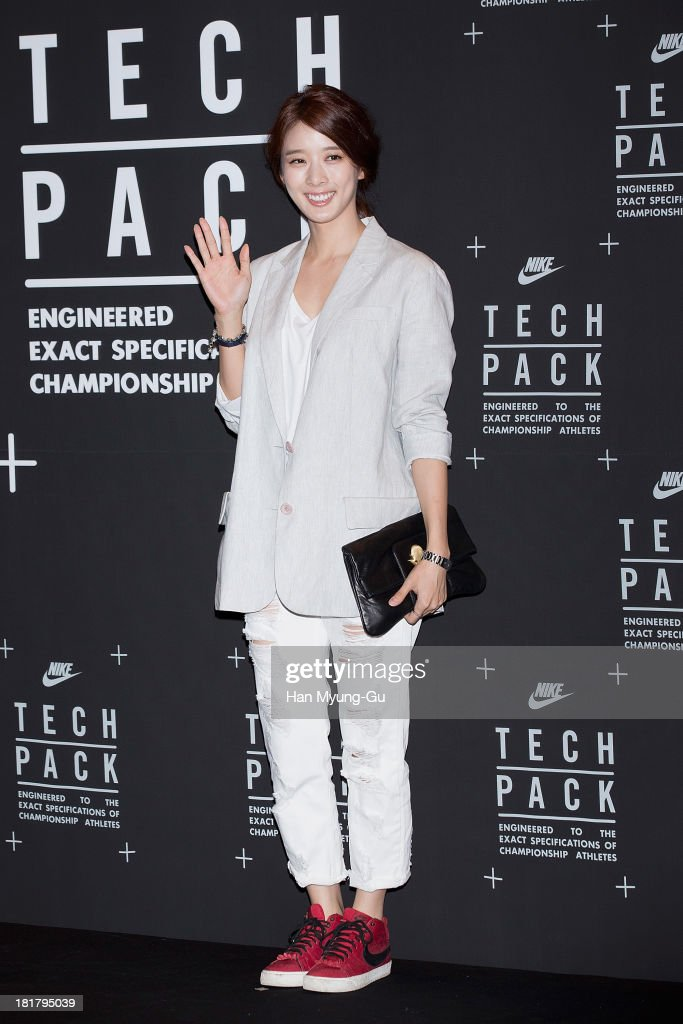 South Korean actress Lee Chung-Ah attends a promotional event for the NIKE 'Tech Pack' Showcase at Shilla Hotel on September 24, 2013 in Seoul, South Korea.