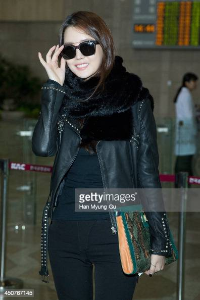 South Korean actress Lee DaHey is seen on departure at Gimpo International Airport on November 20 2013 in Seoul South Korea