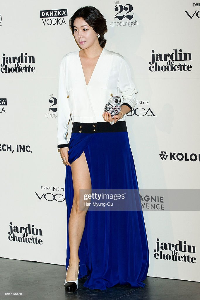 South Korean actress Lee Hye-Young attends during a promotional event of the 'Jardin de Chouette' 2013 S/S Collection at AX Korea on November 19, 2012 in Seoul, South Korea.