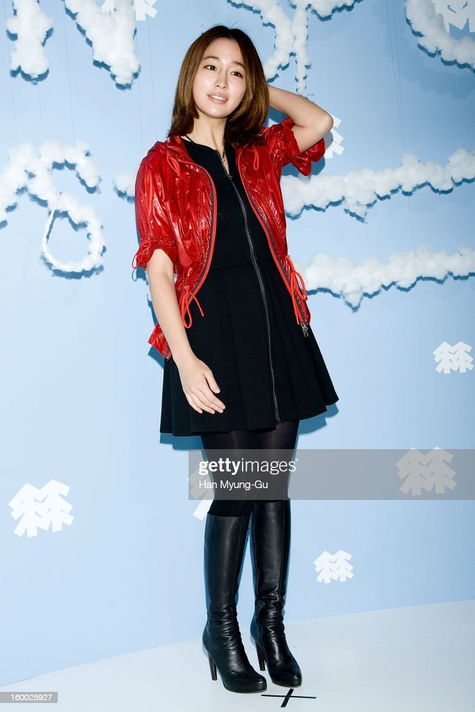 South Korean actress Lee Min-Jung attends the 'Kolon Sport' 2013 SS Presentation on January 24, 2013 in Seoul, South Korea.