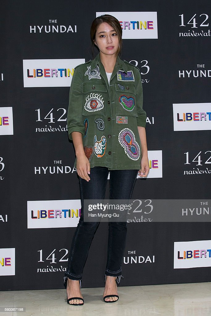 South Korean actress Lee MinJung attends the photocall for 'LIBERTINE' launch at the Hyundai Department Store on August 22 2016 in Seoul South Korea