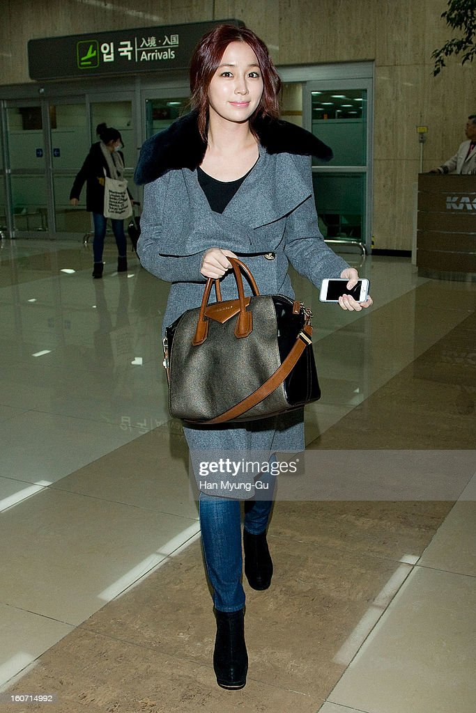 South Korean actress Lee Min-Jung is seen at Gimpo International Airport on February 4, 2013 in Seoul, South Korea.