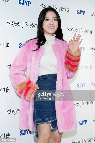 South Korean actress Lee SaeYoung attends the flagship store opening for 'Steve J and Yoni P' on December 14 2016 in Seoul South Korea