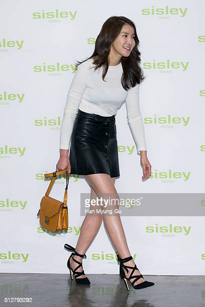 South Korean actress Lee SiYoung attends the launch party for Sisley 'SISLEYA L'Integral AntiAge' on February 25 2016 in Seoul South Korea