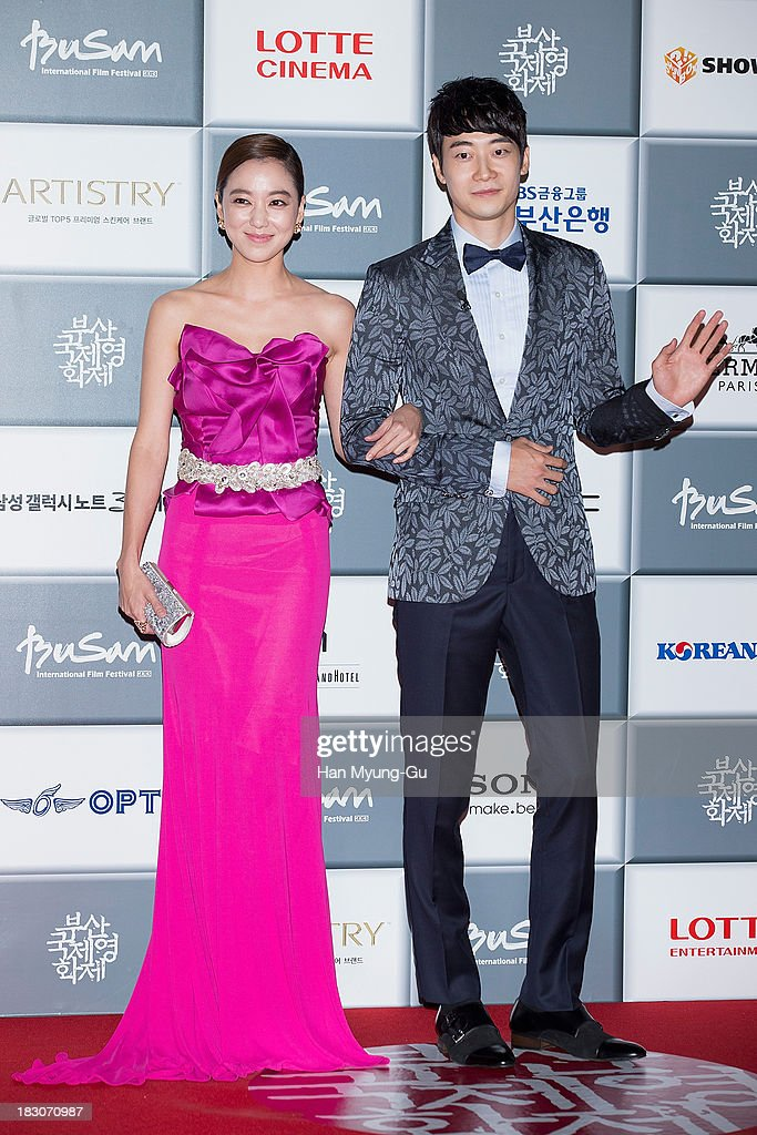 South Korean actress Lee So-Yeon and pianist, Jeon Yoon-Han (Yoonhan) attend the opening ceremony during the 18th Busan International Film Festival on October 3, 2013 in Busan, South Korea. The biggest film festival in Asia showcases 299 films from 70 countries and runs from October 3-12.