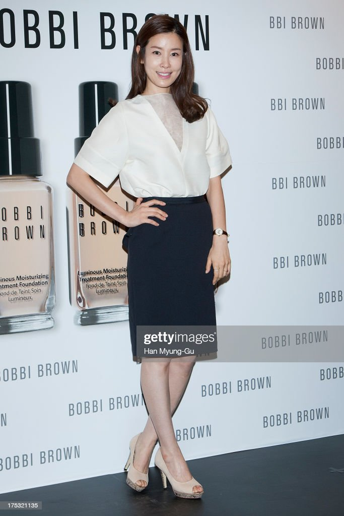 South Korean actress Lee Tae-Ran attends during a promotional event for the 'Bobbi Brown' Pop Up Lounge Opening Party on August 2, 2013 in Seoul, South Korea.