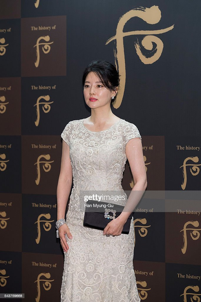 South Korean actress <a gi-track='captionPersonalityLinkClicked' href=/galleries/search?phrase=Lee+Young-Ae&family=editorial&specificpeople=687667 ng-click='$event.stopPropagation()'>Lee Young-Ae</a> attends the photocall for the LG Household and Health Care 'The History Of Whoo' Launch Party at Four Seasons Hotel on June 30, 2016 in Seoul, South Korea.