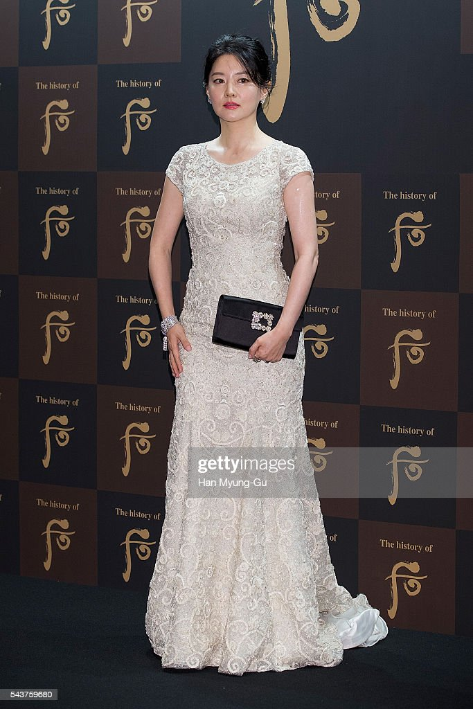 South Korean actress Lee YoungAe attends the photocall for the LG Household and Health Care 'The History Of Whoo' Launch Party at Four Seasons Hotel...
