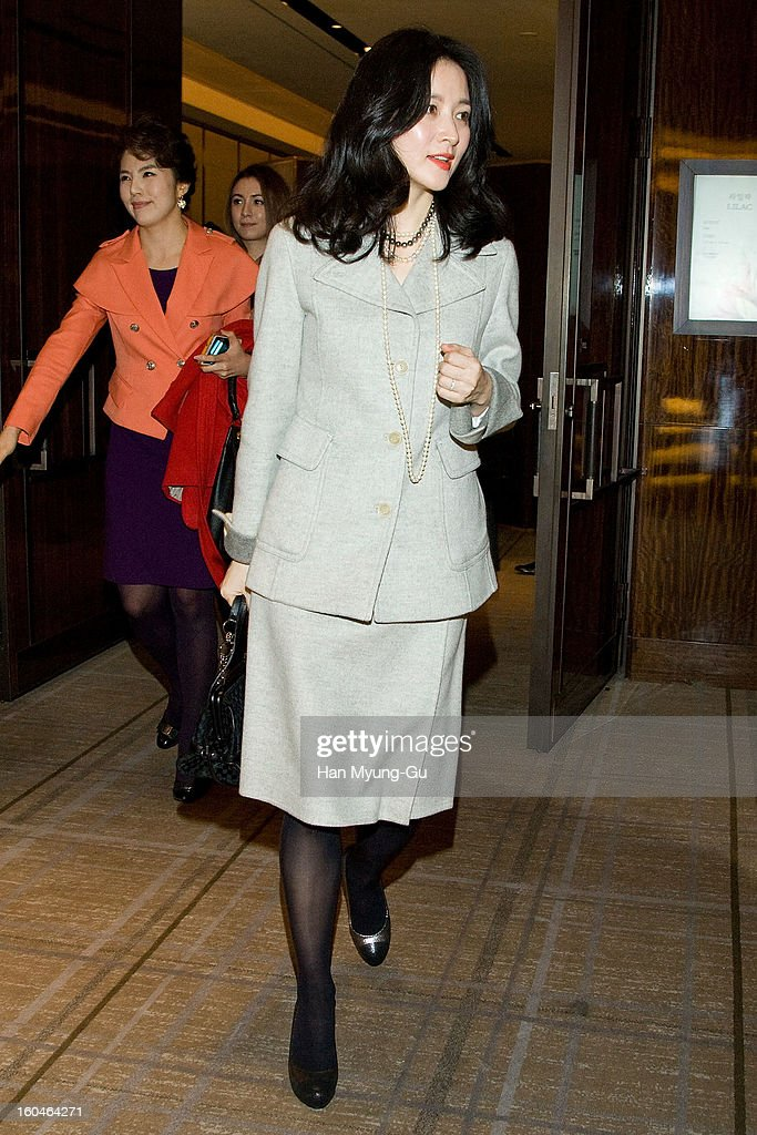 South Korean actress <a gi-track='captionPersonalityLinkClicked' href=/galleries/search?phrase=Lee+Young-Ae&family=editorial&specificpeople=687667 ng-click='$event.stopPropagation()'>Lee Young-Ae</a> is seen at the Westin Chosun Hotel on January 31, 2013 in Seoul, South Korea.