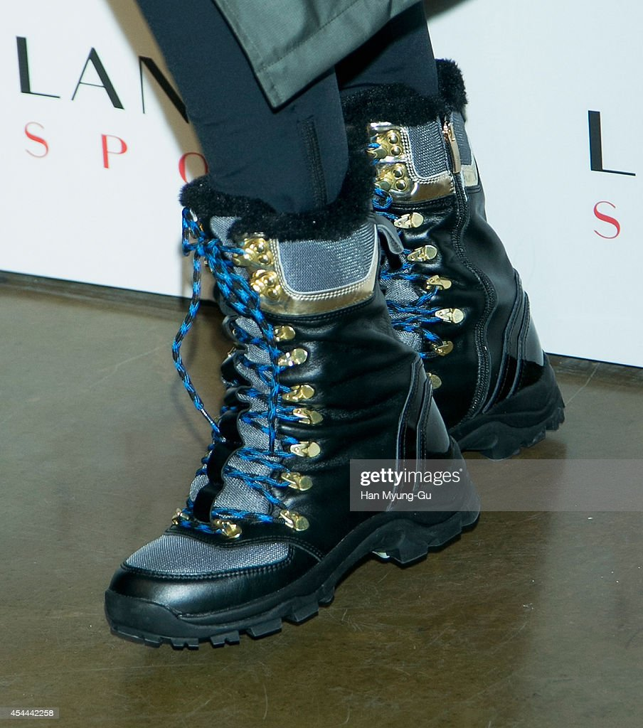 South Korean actress Lee Young-Jin (shoe detail) attends 'Lanvin Sport' FW 2014 Grand Open on August 29, 2014 in Seoul, South Korea.