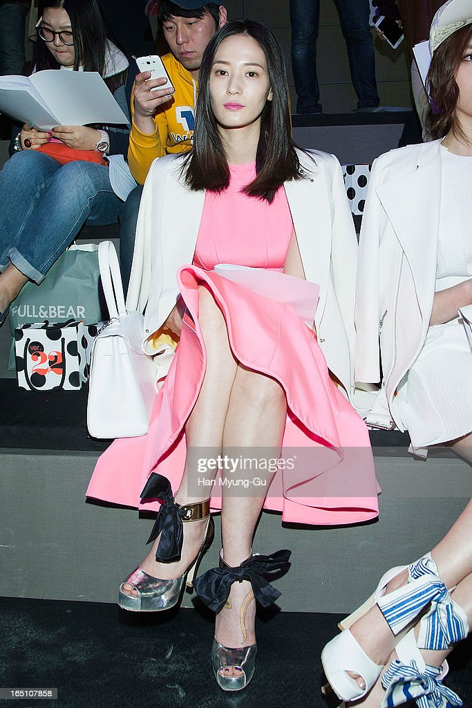 South Korean actress Lee Young-Jin attends the 'Jardin De Chouette' Collection on March 29, 2013 in Seoul, South Korea.