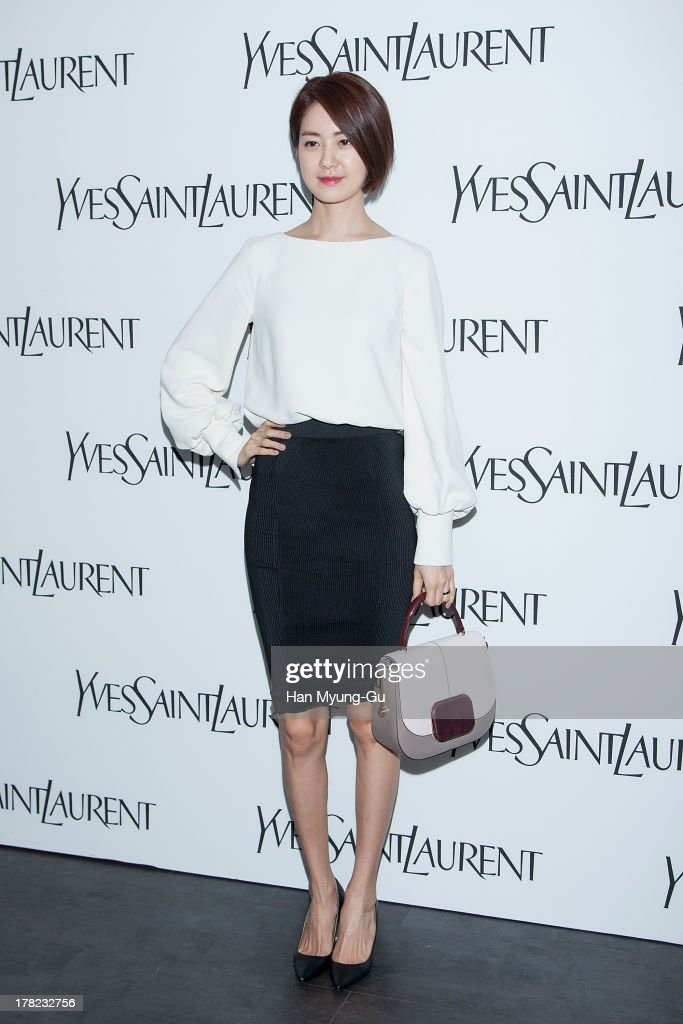 South Korean actress Lee Yo-Won attends during the 'Forever Youth Liberator' launch party hosted by Yves Saint Laurent Skin Care at the Cais Gallery on August 27, 2013 in Seoul, South Korea.