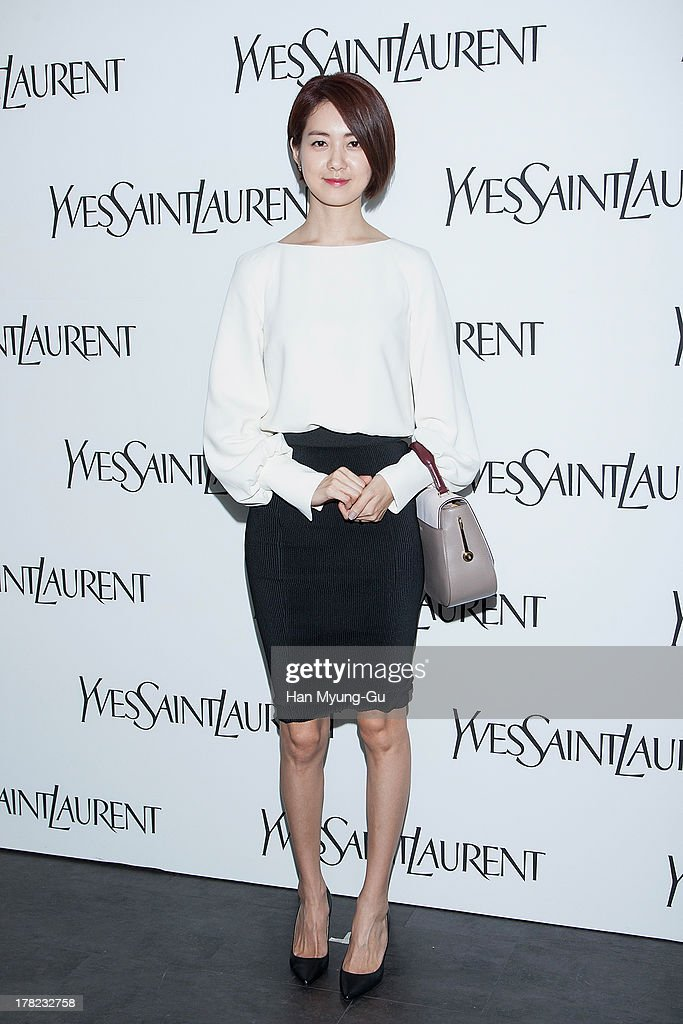 South Korean actress <a gi-track='captionPersonalityLinkClicked' href=/galleries/search?phrase=Lee+Yo-Won&family=editorial&specificpeople=4376729 ng-click='$event.stopPropagation()'>Lee Yo-Won</a> attends during the 'Forever Youth Liberator' launch party hosted by Yves Saint Laurent Skin Care at the Cais Gallery on August 27, 2013 in Seoul, South Korea.