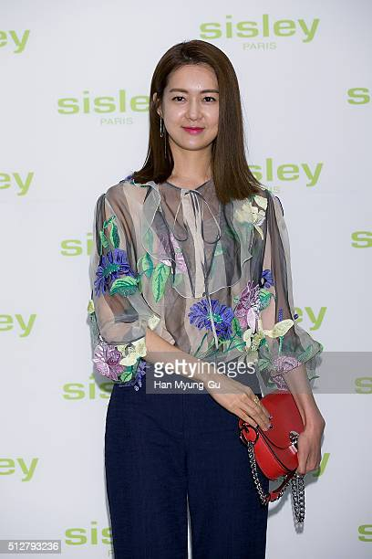South Korean actress Lee YoWon attends the launch party for Sisley 'SISLEYA L'Integral AntiAge' on February 25 2016 in Seoul South Korea