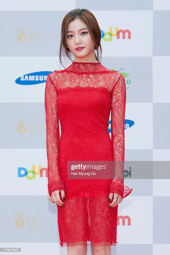 South Korean actress Lee Yu-Bi arrives for photographs at the Seoul International Drama Awards 2013 at National Theater on September 5, 2013 in Seoul, South Korea.