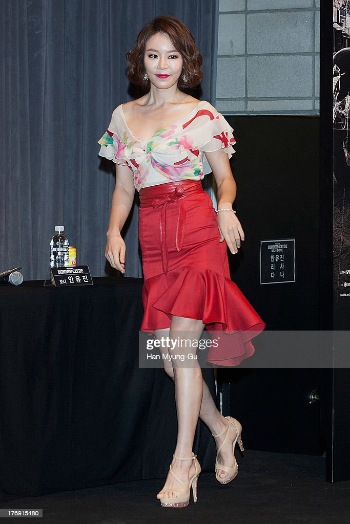 South Korean actress Lisa attends the press conference for musical 'Bonnie and Clyde' at M-Cube in Seoul on August 19, 2013 in Seoul, South Korea. The musical will open on September 04, in South Korea.