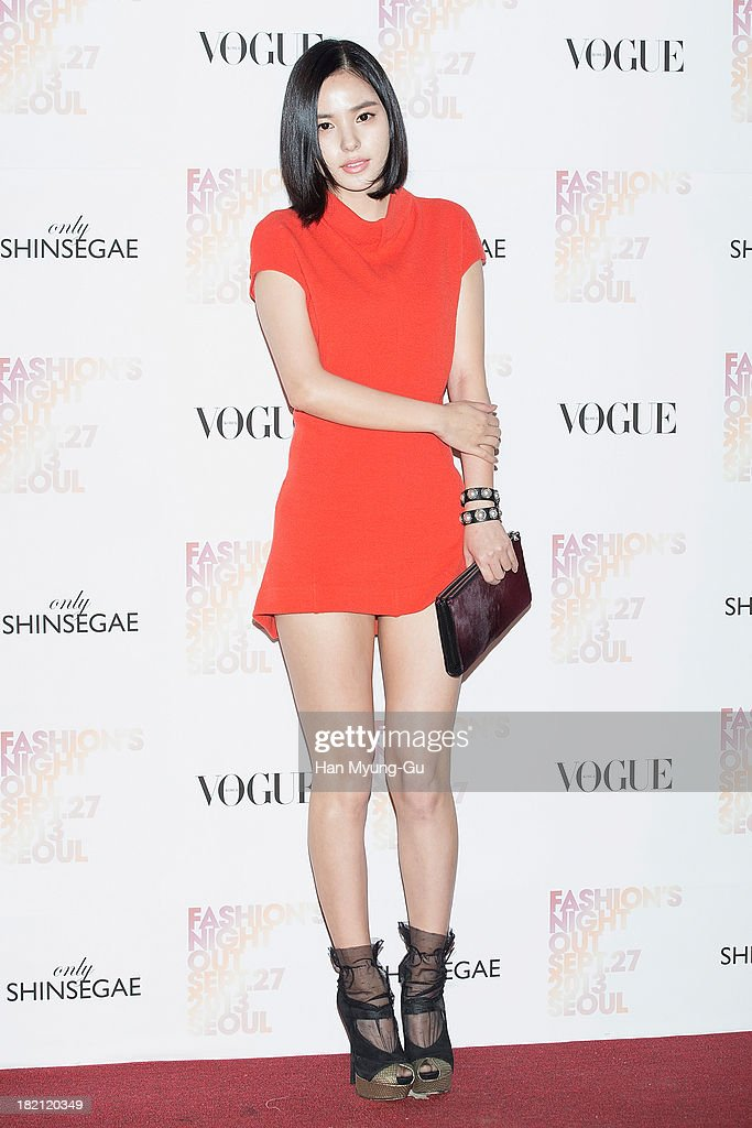 South Korean actress <a gi-track='captionPersonalityLinkClicked' href=/galleries/search?phrase=Min+Hyo-Rin&family=editorial&specificpeople=4466490 ng-click='$event.stopPropagation()'>Min Hyo-Rin</a> attends VOGUE Fashion Night Out at Shinsegae Department Store on September 27, 2013 in Seoul, South Korea.