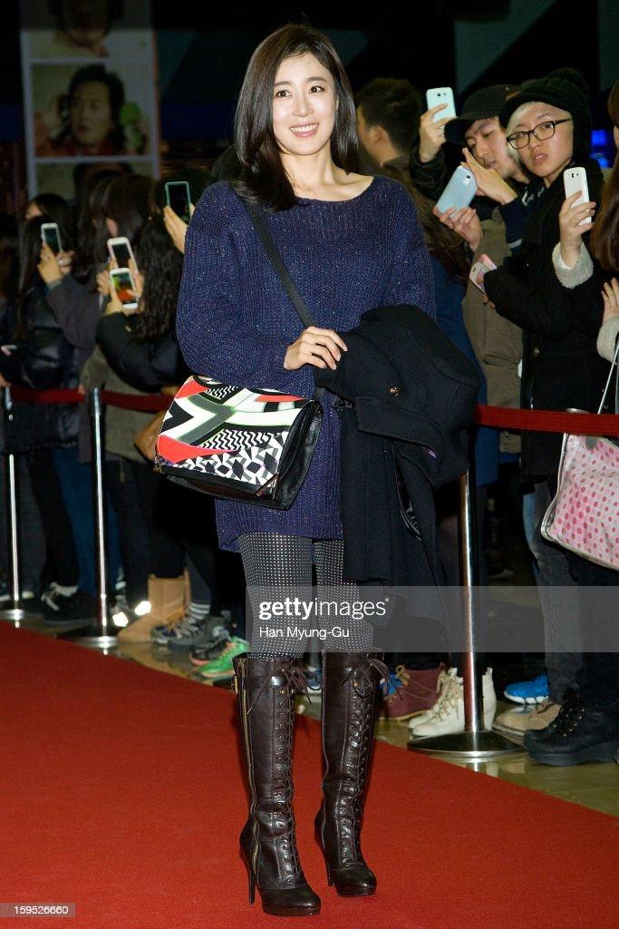 South Korean actress Moon Jung-Hee attends the 'Miracle In Cell No.7' VIP Screening at Mega Box on January 14, 2013 in Seoul, South Korea.